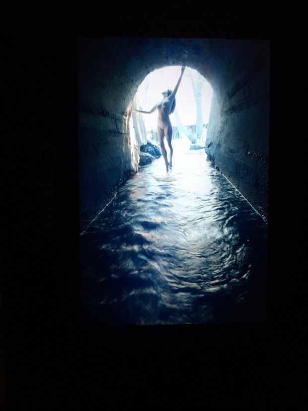 The End of the Tunnel Artistic Nude Photo by Model Mila