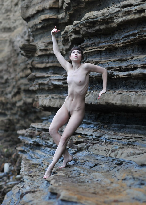 The Exquisite Shale Ballet Artistic Nude Photo by Photographer Alan H Bruce