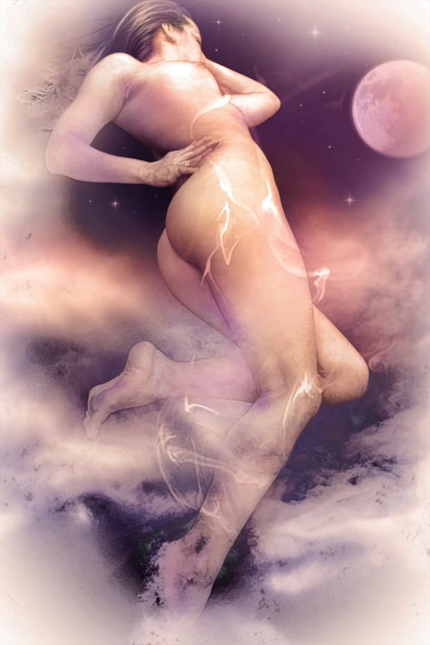 The Flight of Venus Artistic Nude Artwork by Artist Todd F. Jerde