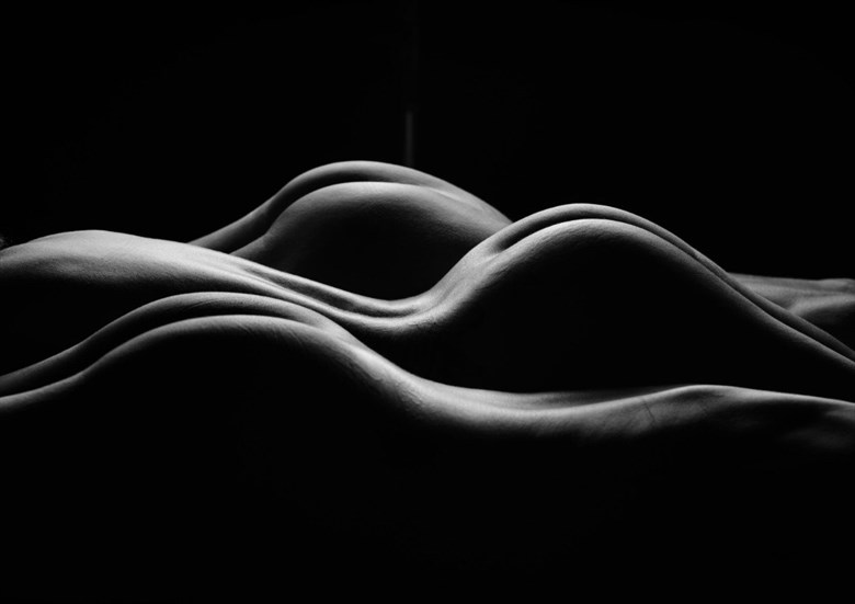 The Fluidity of Three Artistic Nude Photo by Model Sirsdarkstar