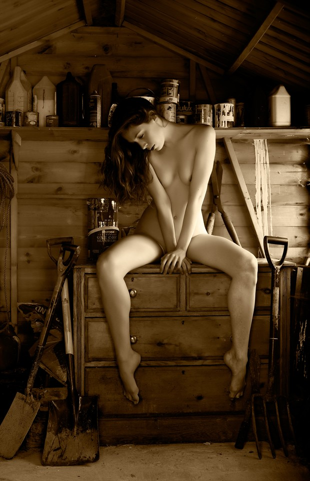 The Garden Shed Artistic Nude Photo by Photographer Ray Kirby
