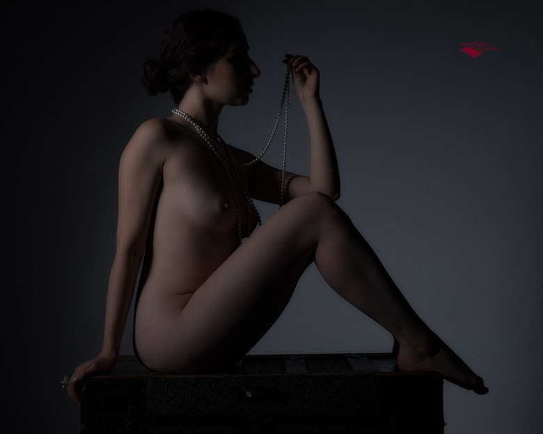 The Girl with the Pearls Artistic Nude Artwork by Photographer Miller Box Photo