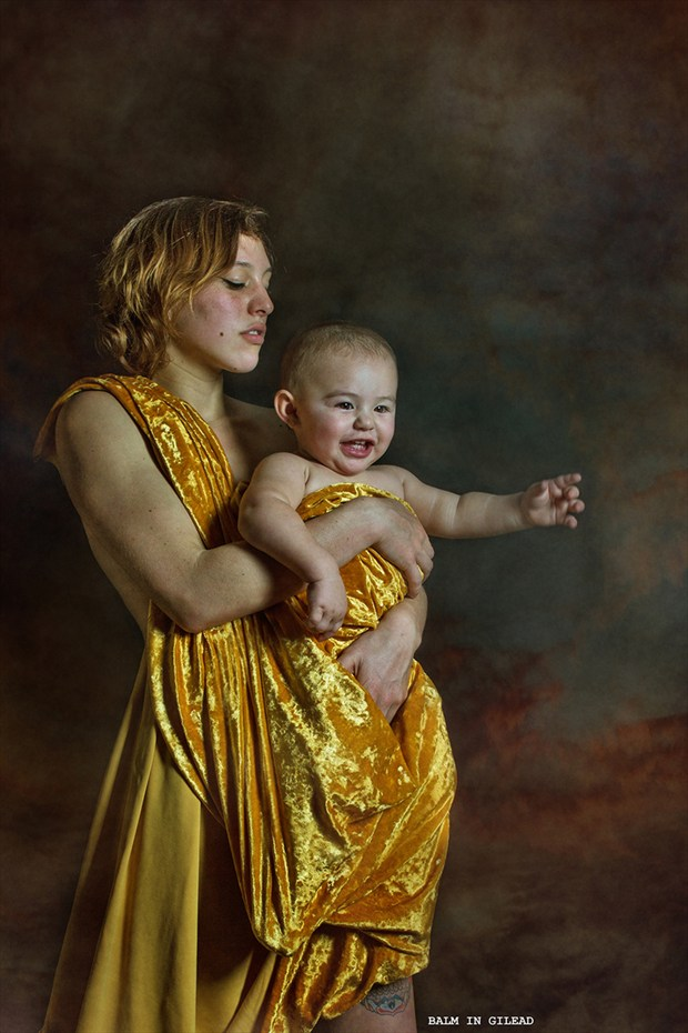 The Golden Child Surreal Photo by Model Amanda Morales