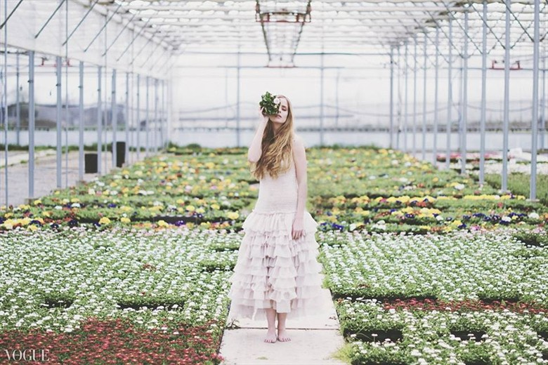 The Greenhouse Sensual Photo by Model Alessandra