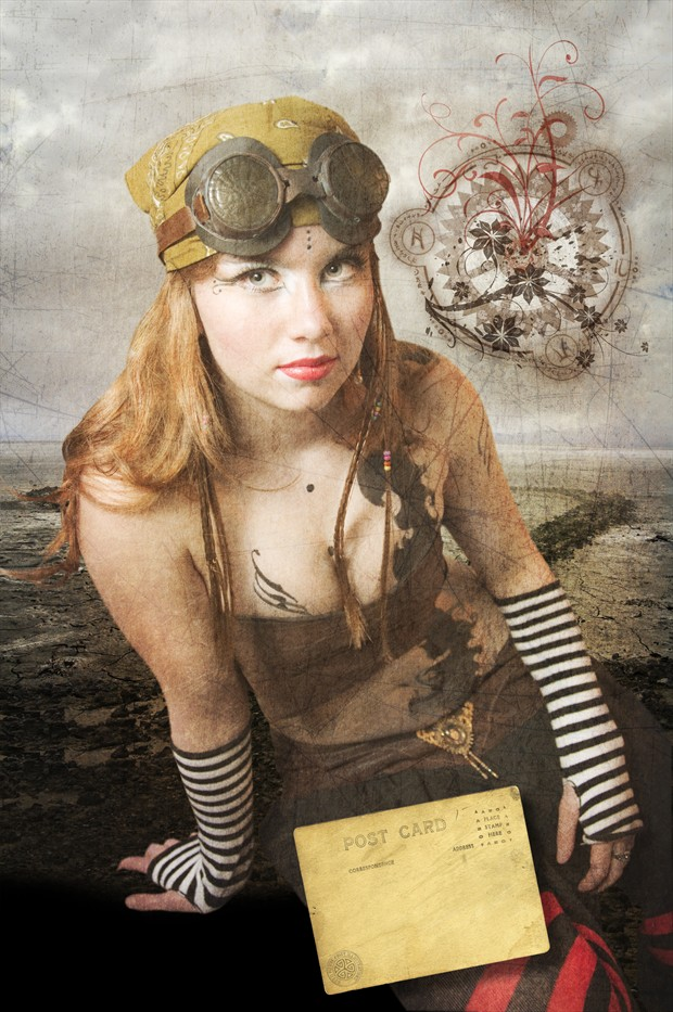 The Letter Vintage Style Photo by Artist Mysthral