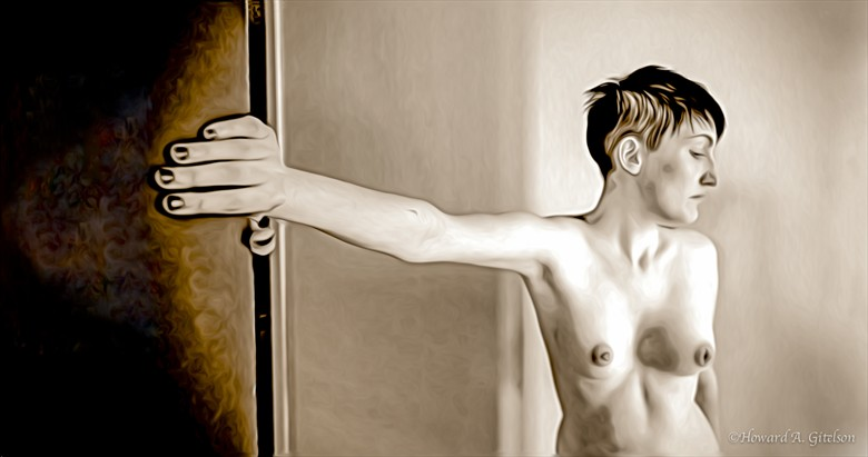The Long Arm of Cassie Artistic Nude Photo by Photographer HGitel