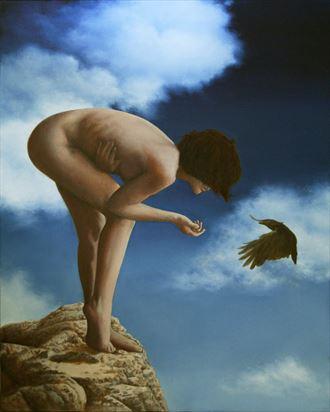 The Messenger Artistic Nude Artwork by Artist George Paul Miller
