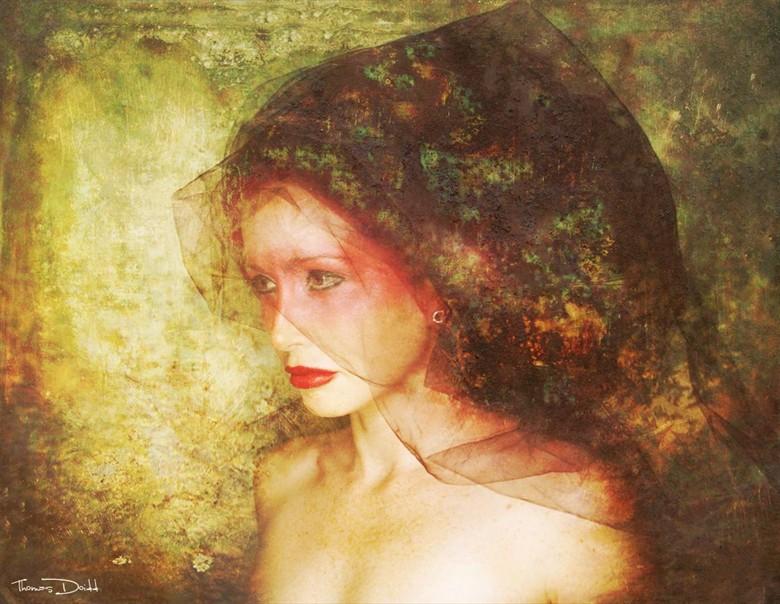 The Muse Expressive Portrait Artwork by Model Nina Covington