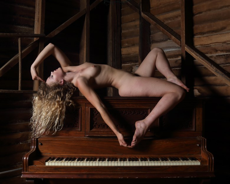 The Naked Pianist  Artistic Nude Photo by Model Katarina Keen