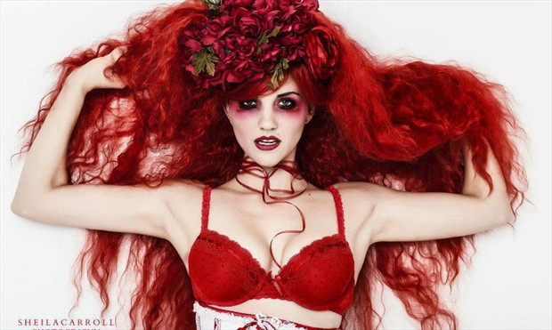 The Red Woman Emotional Photo by Model Satya