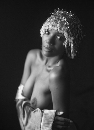 The Showgirl in Black & White Artistic Nude Photo by Photographer CalidaVision