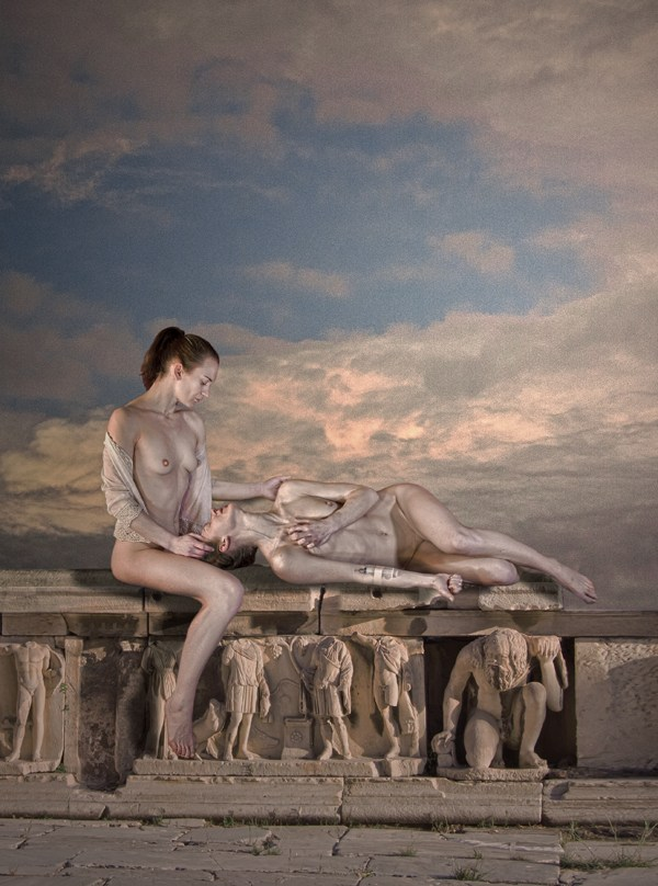 The Silent Weight of Suffering Figure Study Photo by Photographer Douglas Ross