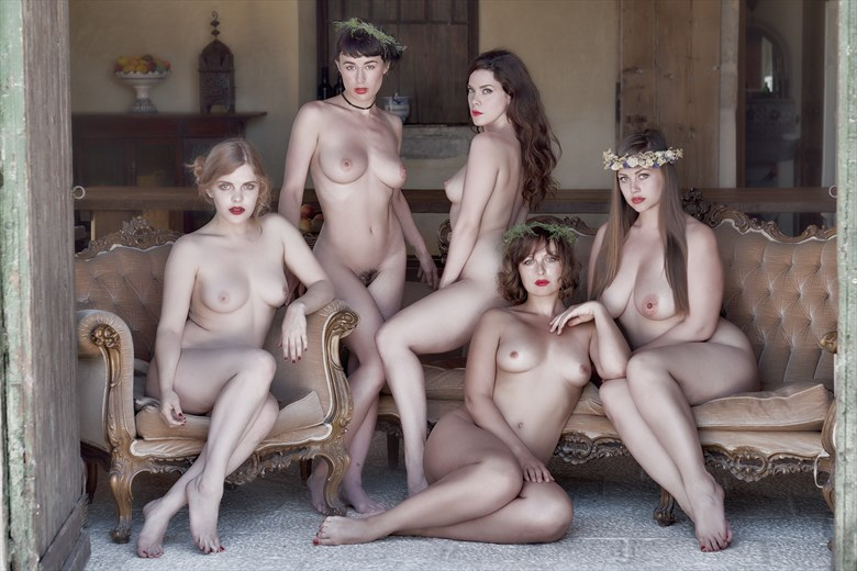 The Sirens of Villa Salinara, Sicily Artistic Nude Photo by Photographer StromePhoto