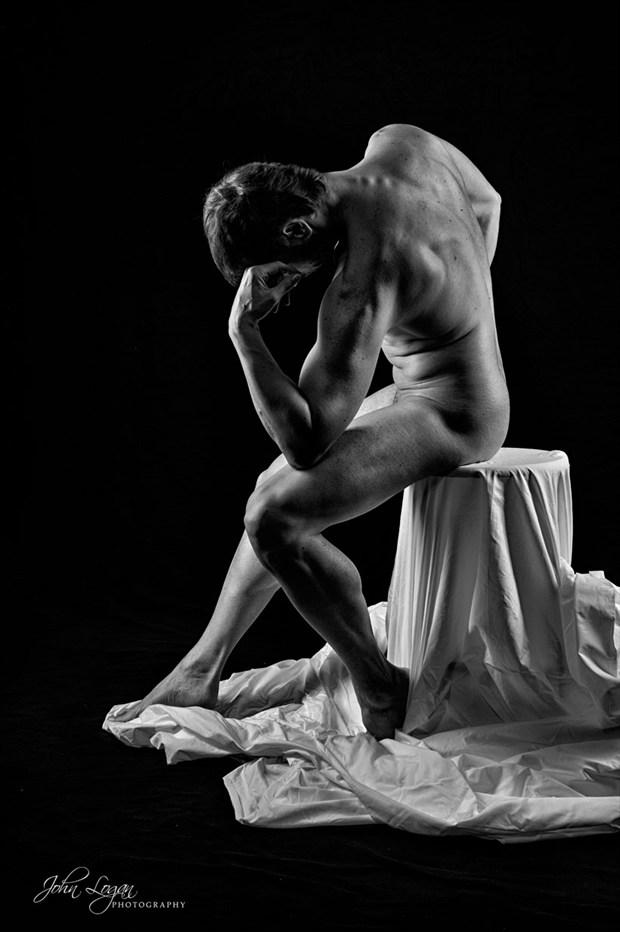The Thinker Artistic Nude Photo by Photographer John Logan