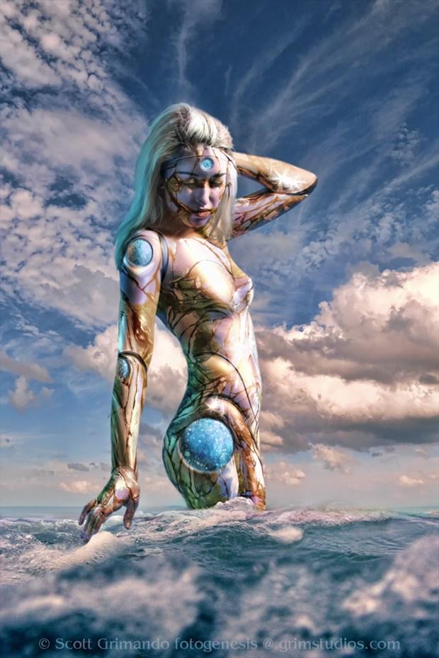 The Tide Surreal Artwork by Artist Scott Grimando
