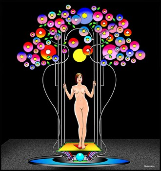 The Tree of Life Glamour Artwork by Artist Jack Bussmann