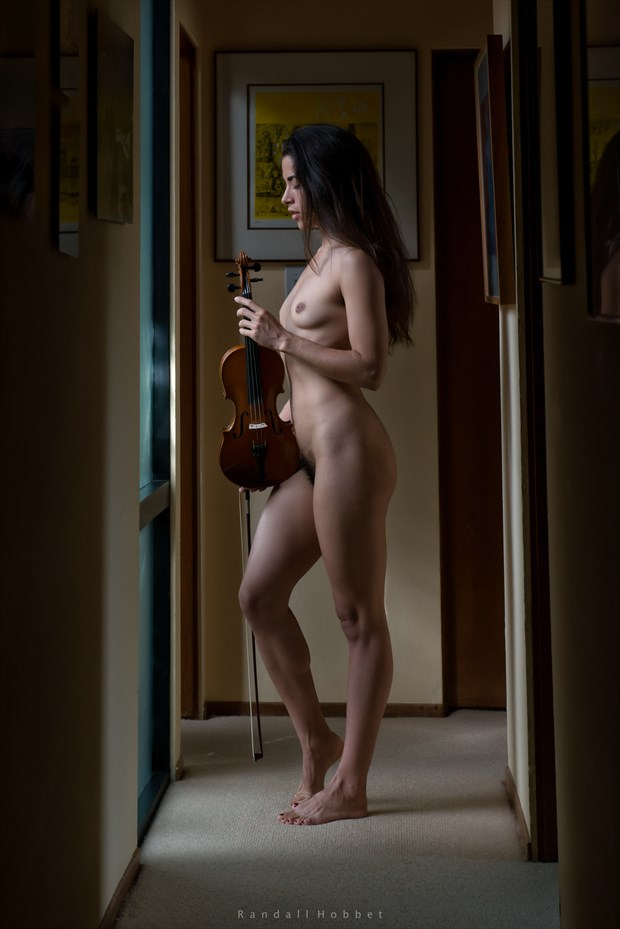 The Violinist Artistic Nude Photo by Photographer Randall Hobbet
