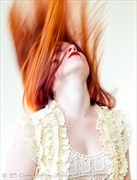 The Vivid Redhead, Holly Rogue Swings into Action Abstract Photo by Photographer Constantine.Photos