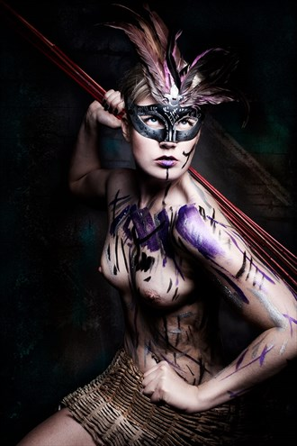 The Warrior Artistic Nude Artwork by Model Deeza Lind