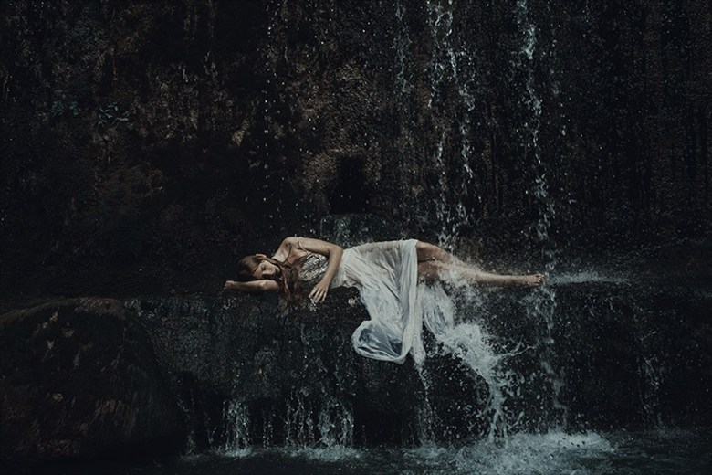 The Waterfall Nature Photo by Model Alessandra