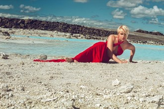 The Woman in Red Nature Photo by Model Deeza Lind
