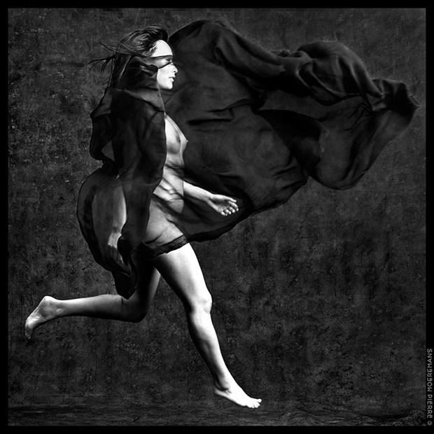 The Women & Elements, Air Artistic Nude Artwork by Photographer Pierre Moeremans