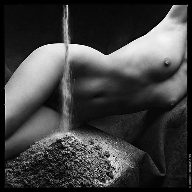 The Women & Elements, Earth Artistic Nude Artwork by Photographer Pierre Moeremans