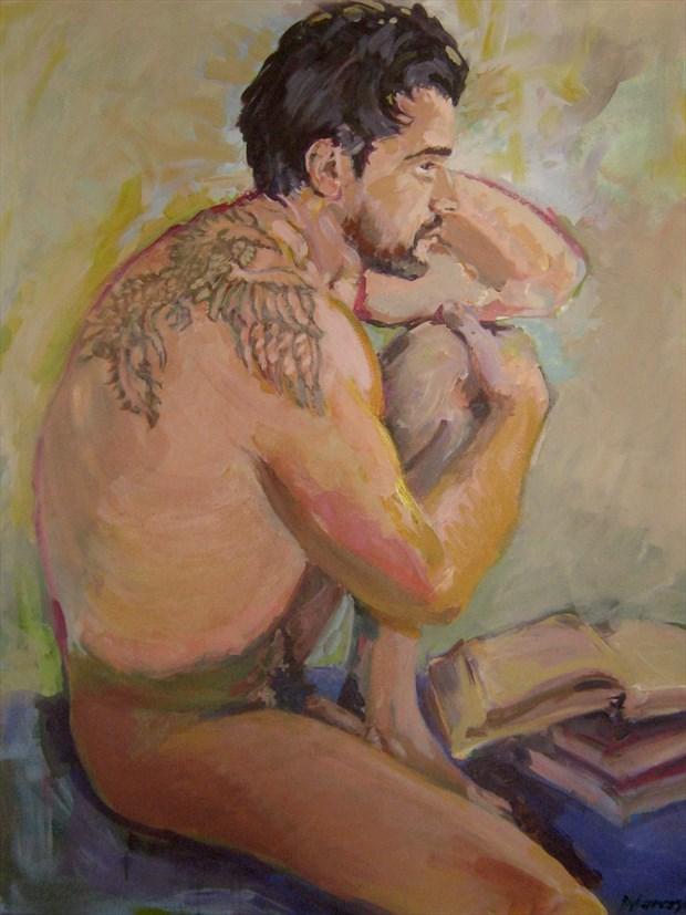 The Writer Artistic Nude Artwork by Artist paulryb