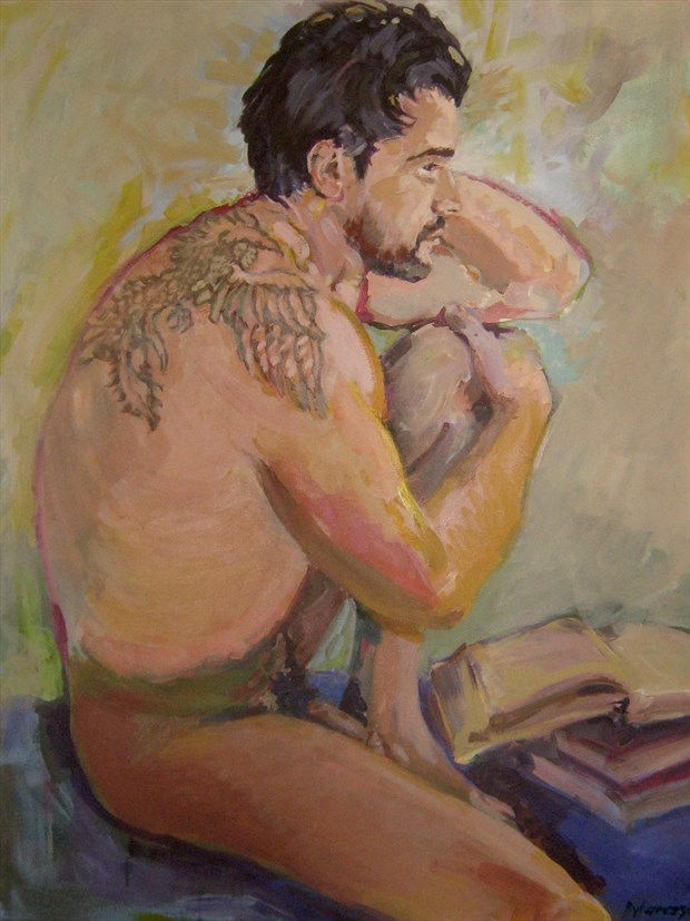 The Writer Artistic Nude Artwork by Artist paulryb