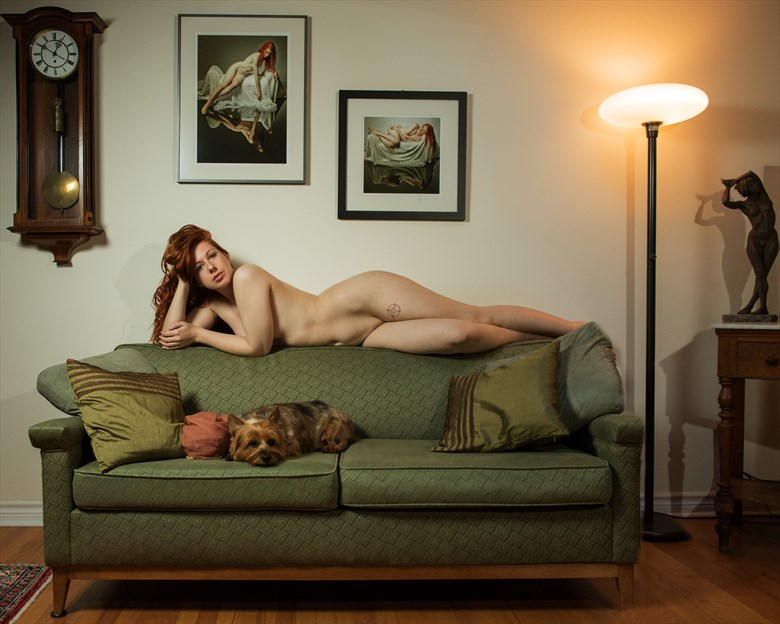 The beauty and the dog Artistic Nude Photo by Photographer Jyves