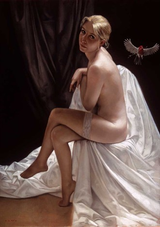 The flying bird Artistic Nude Artwork by Artist Bruno Di Maio