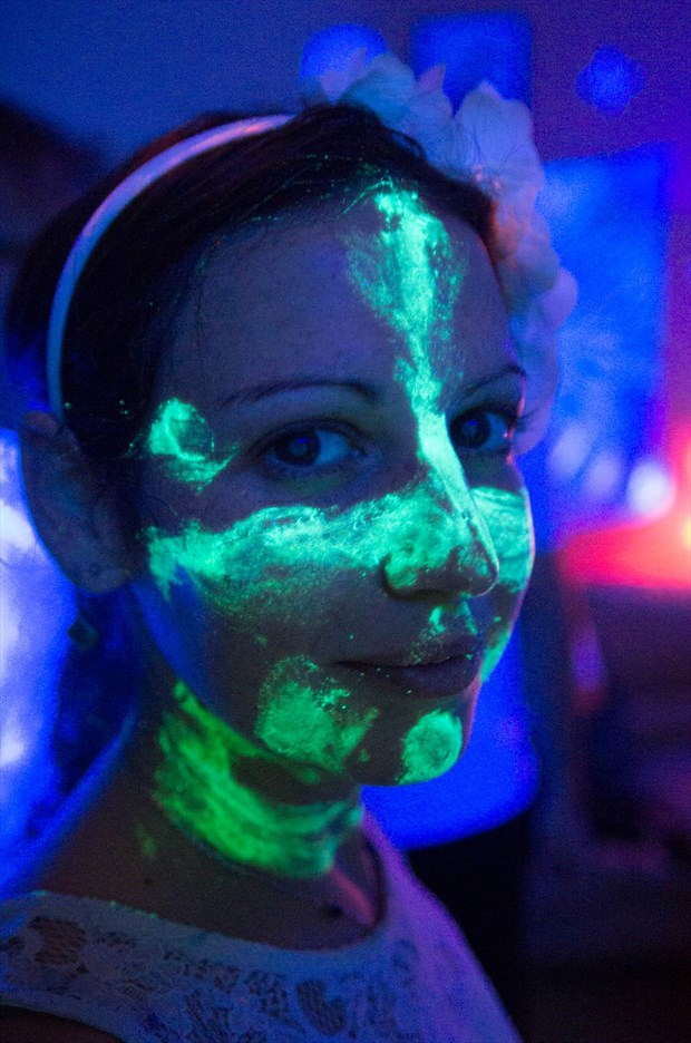 The glowing party  Body Painting Photo by Model Misted Forest