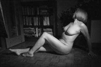 The library Artistic Nude Photo by Model Jana