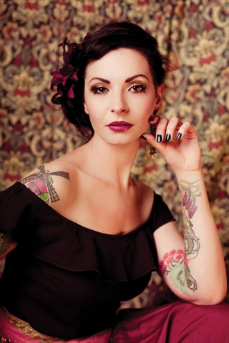 The look of colour Tattoos Photo by Model Carrie Diamond
