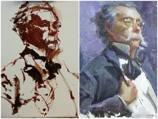 The professor  Portrait Artwork by Artist ShunXie