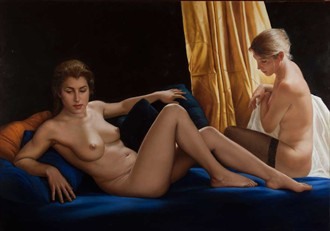 The two sisters Artistic Nude Artwork by Artist Bruno Di Maio