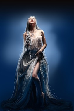 The white queen Abstract Artwork by Artist Emanuelle