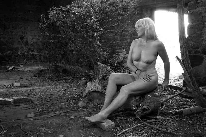 These ancient walls Artistic Nude Photo by Model Jana