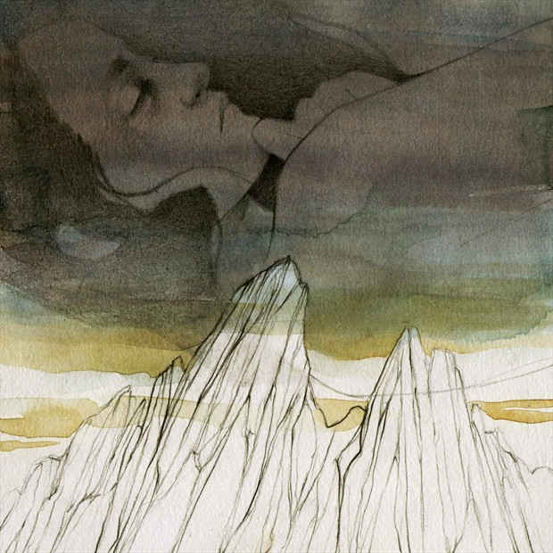 Thousand winds Expressive Portrait Artwork by Artist Elia Fern%C3%A1ndez