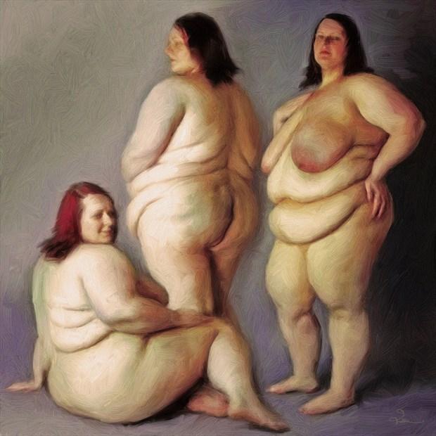 Three Lollies Artistic Nude Artwork by Artist Van Evan Fuller
