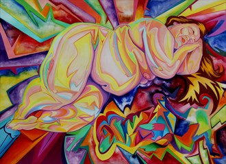 Three Reclining Nudes Artistic Nude Artwork by Artist Andrew Chambers