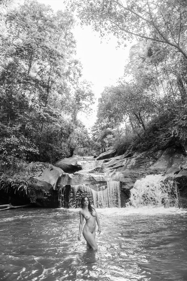 Through the Waterfall Artistic Nude Photo by Photographer JohnD Photo
