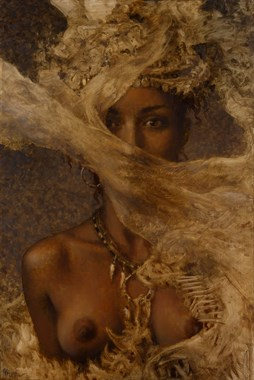 Through the Wind Veil Artistic Nude Artwork by Artist Matthew Joseph Peak