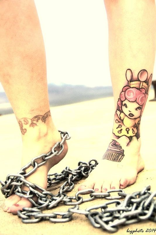 Toes & Chain Tattoos Photo by Photographer Barry Gallegos