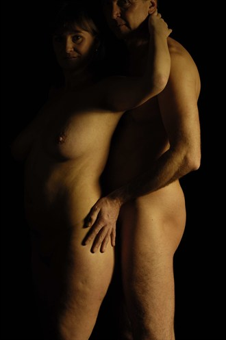 Together Shadow Artistic Nude Artwork by Model Manofhands
