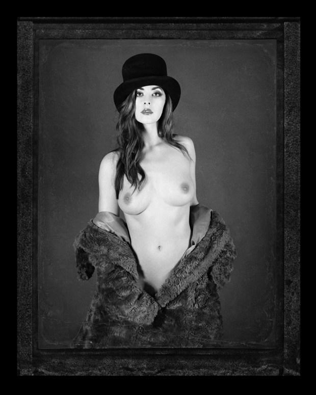 Top Hat Polaroid Artistic Nude Photo by Photographer RayRapkerg