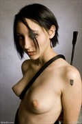 Topless Girl with Rifle Artistic Nude Photo by Photographer Michelle7.com