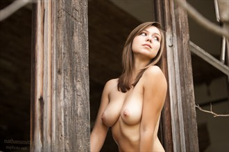 Topless in Window Artistic Nude Photo by Photographer nsphoto
