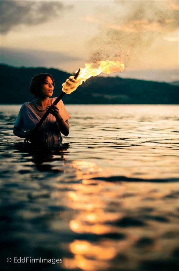 Torch Nature Photo by Model Rhiannon Guest