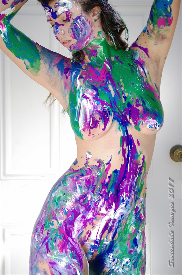 Tori playing with paint Artistic Nude Photo by Photographer Scottsdale Images